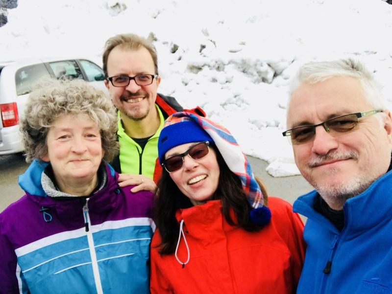Risky Week 06 – glückliche Freunde nach dem Langlauf