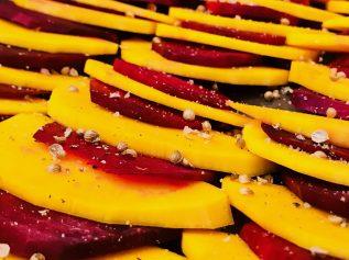 Kürbis Rote Beete – Herbstfarben und Herbstgemüse