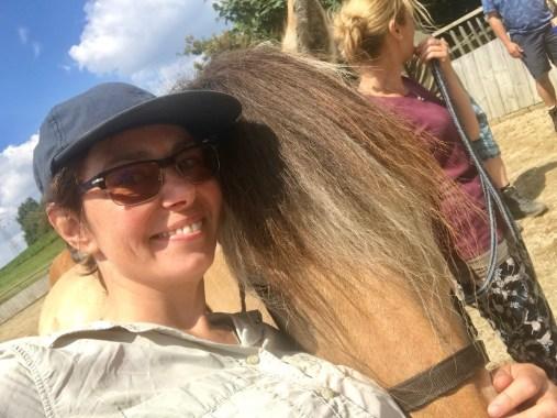 Tanja mit einem Pferd