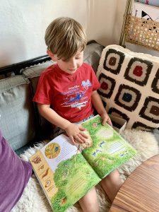 Junge-sieht-sich-Buch-vom-Arena_Verlag-an