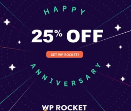 WP Rocket Anniversary Promotion