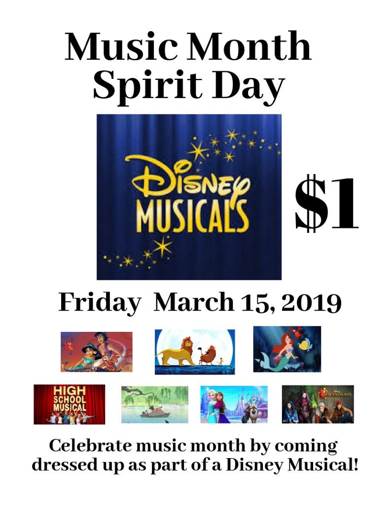 Music Month Spirit Day
