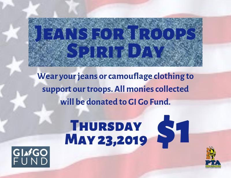 Jeans for Troops Spirit Day
