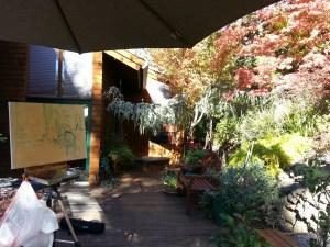 Plein air Fall Garden