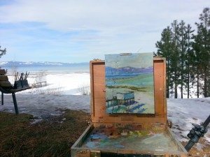 Regan beach boathouse pleinair
