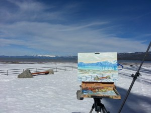 Regan plein air Mt Rose