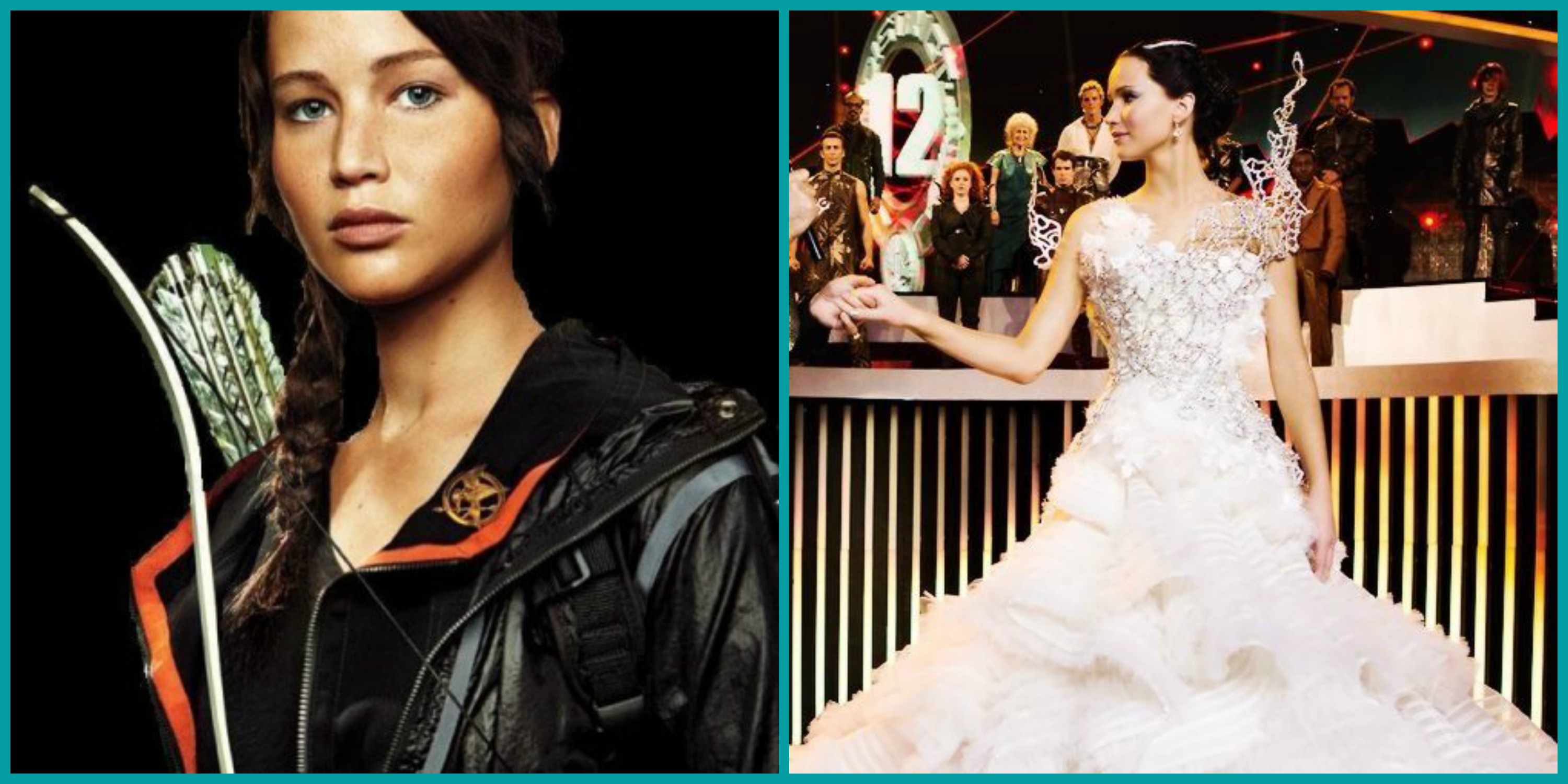 Katniss' fashion ranges from functional outfits to flattering gowns.