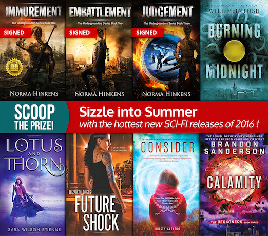 Sizzling Hot Sci-Fi Fiction #BookGiveaway!
