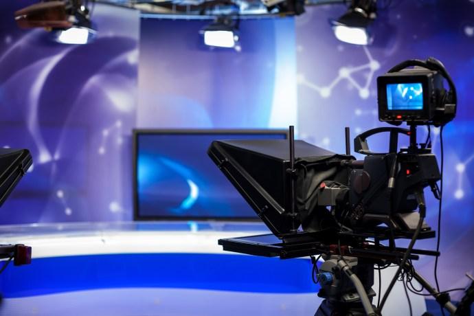 recording show in TV studio