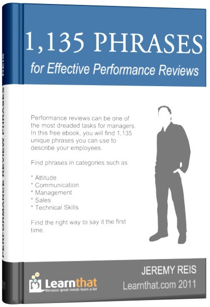 1,135 Performance Review Template Phrases eBook | i hate performance ...