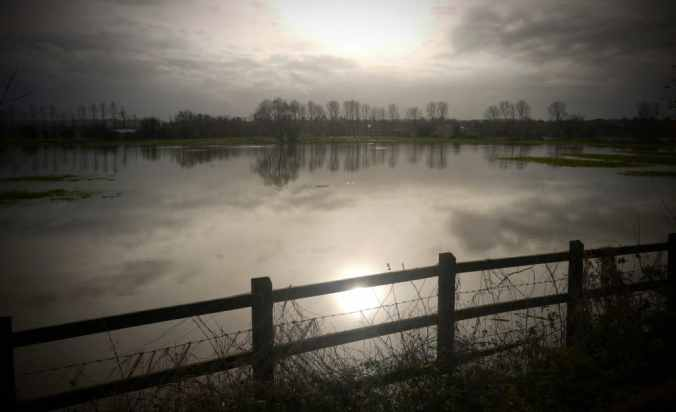 The Somerset Levels frequently flood