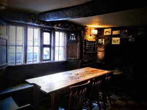 My old kitchen table! The Rifleman's Arms, Glastonbury