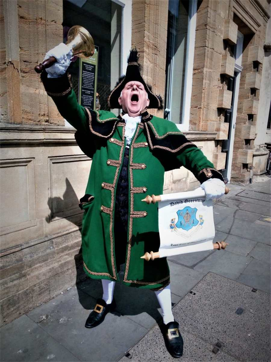 David Greenaway Glastonbury Town Crier