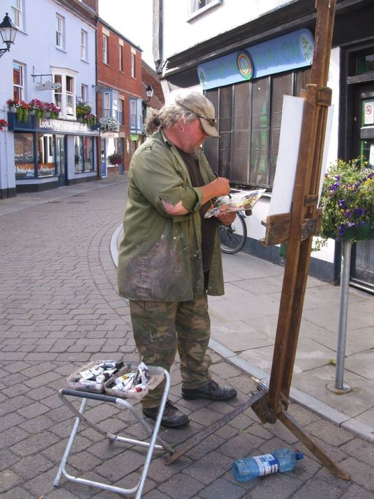 Painter in Glastonbury, Market Cross