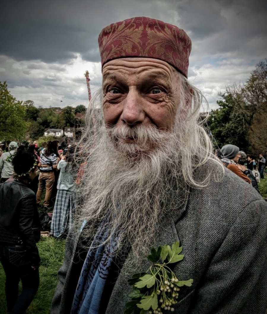 Charley Barley, May Day Celebration 2017 on Bushy Coombe, May Pole, Glastonbury