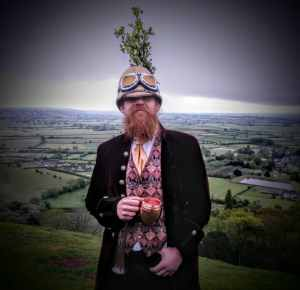 Glastonbury Druid, May Day Morning 2017 on Glastonbury Tor