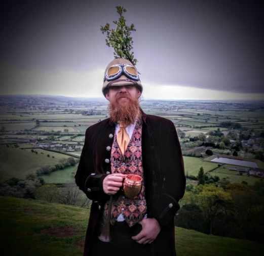 Glastonbury Druid, May Day Morning 2017 on Glastonbury Tor