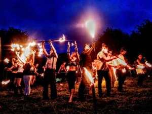 Glastonbury Festival Opening Ceremony 2016 in the Kings Meadow by Vicki Steward