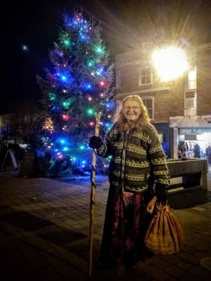 Lyn and Glastonbury's Christmas Tree