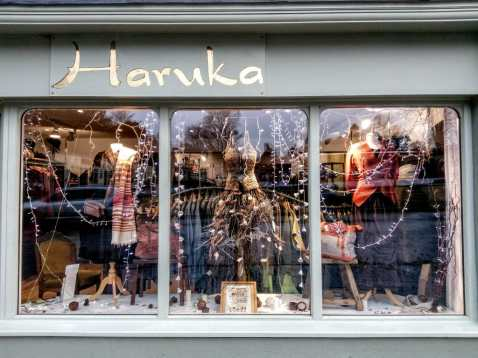 Haruka Glastonbury Christmas Window
