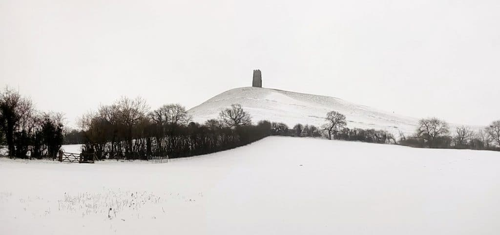 Glastonbury Tor in the Snow March 2018