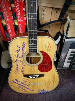 Community Guitar at Sonus Magus Music Shop, Glastonbury Town