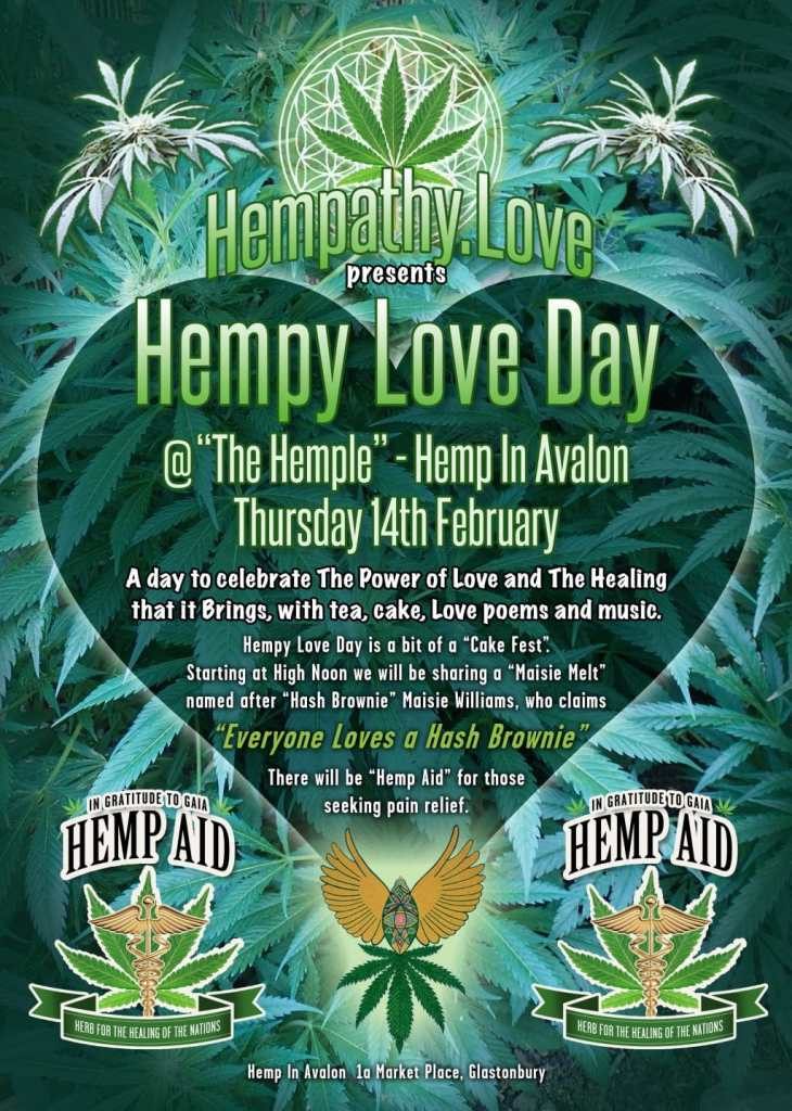 Poster for Hempy Love Day in Glastonbury 2019
