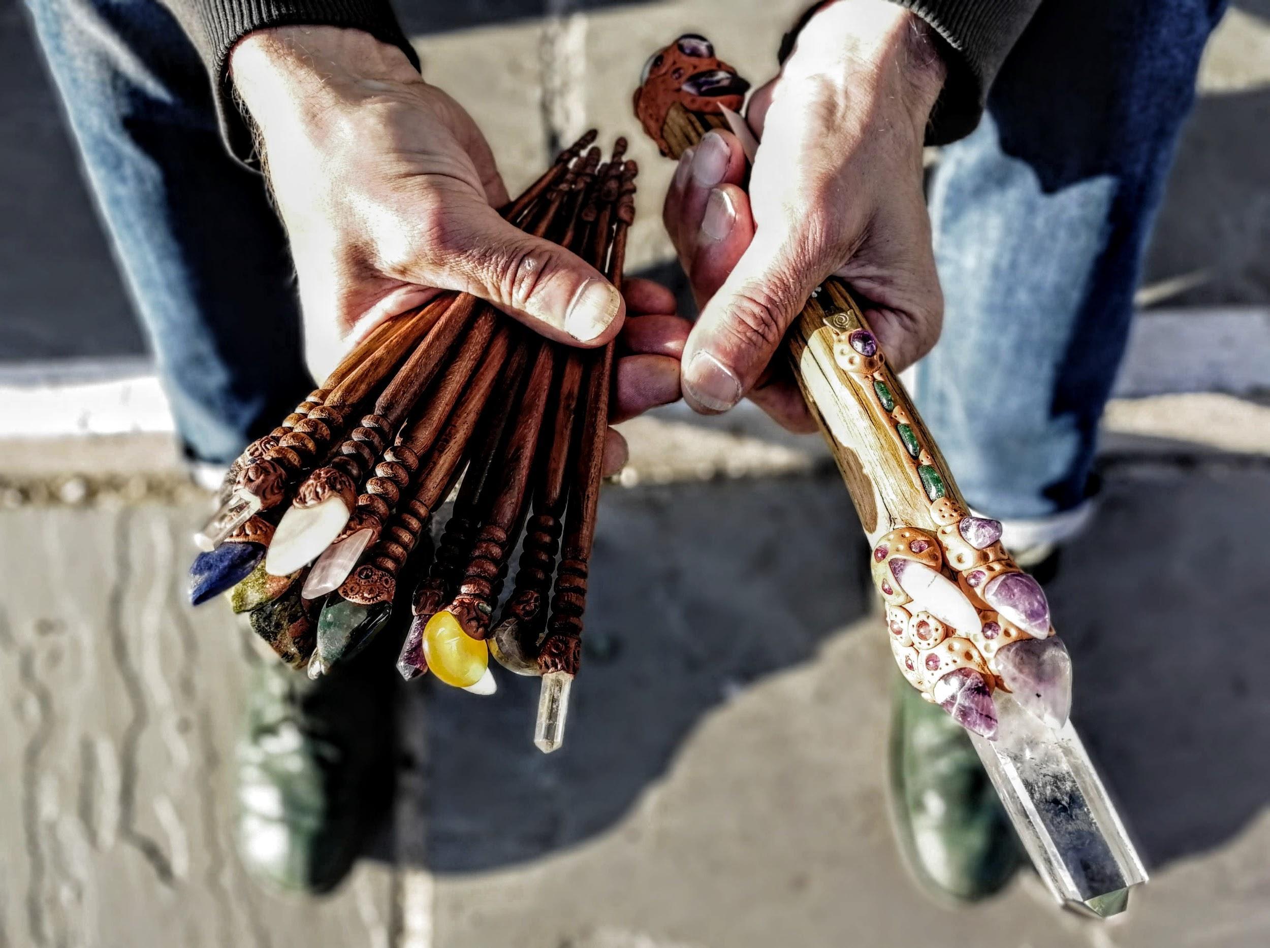 Greens handmade wands