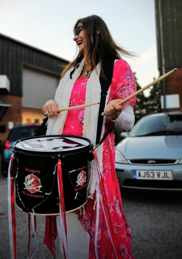 Glastonbury's Dragon Drummers