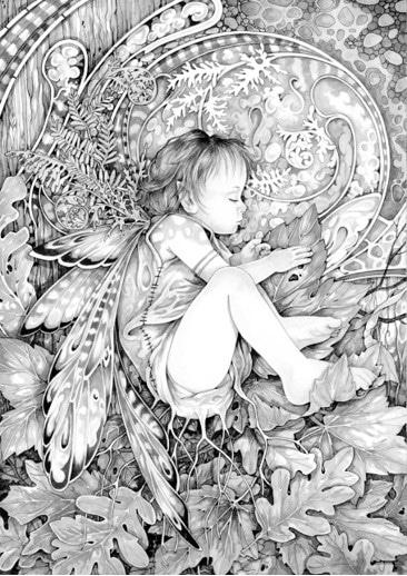 Unfurling of Spring Sketch by Linda Ravenscroft