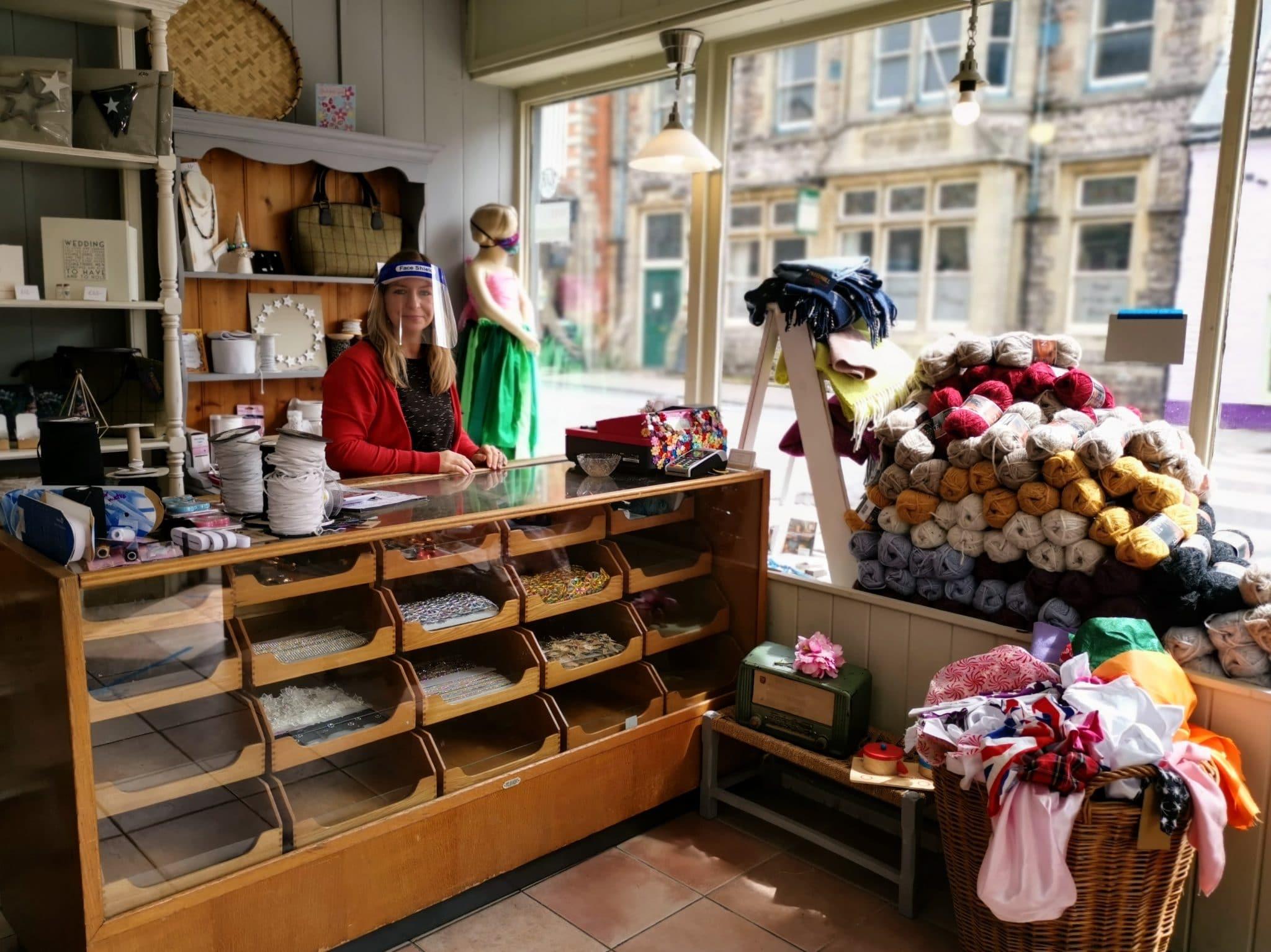 Sew Over the Moon Shop in Glastonbury