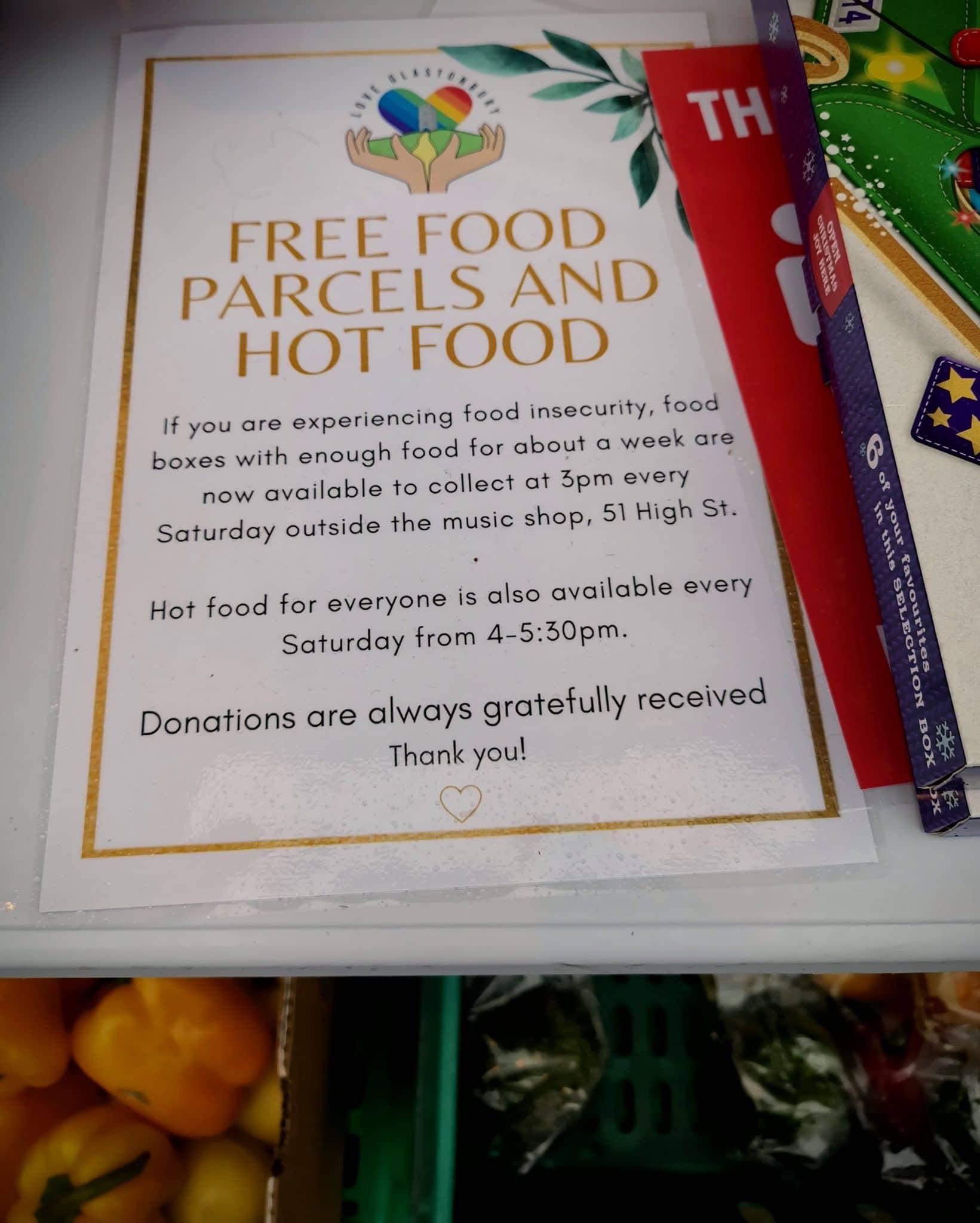 Glastonbury Food Parcels