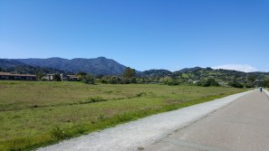 Bike path leaving Sausalito, CA and heading to Tiburon, CA.