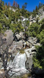 Waterfall on the way to Yosemite Valley