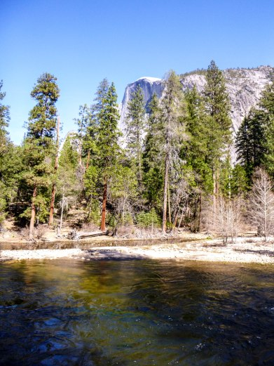 Half Dome across Mirror Lake