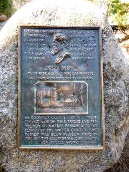 A marker where John Muir's house once sat