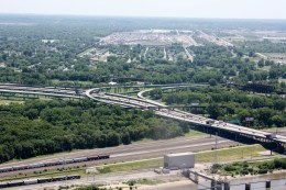 Illinois from the top of the Arch