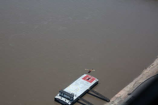 A perfect landing on the Mississippi