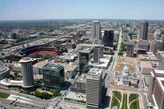 St. Louis from the top of the Arch