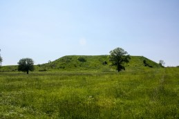 Mounds seen on guided history hike