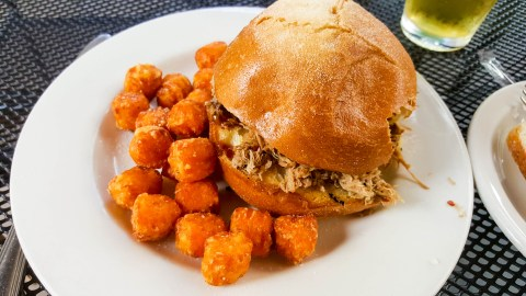 Pulled pork, tots, happiness