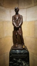 Lincoln statues at his tomb