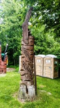 Bald eagle sculpture at Starved Rock State Park
