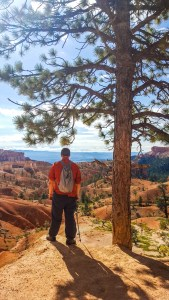 Eric overlooking the canyon from the first part of the Queen's Garden Trail at Bryce Canyon National Park