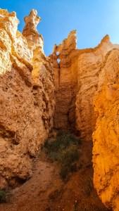 Viewing the rock walls close up
