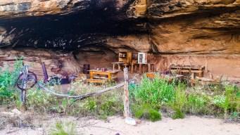 Cowboy ruins at Cave Spring