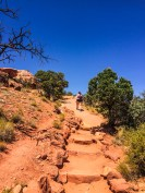 Hiking to Upheaval Dome, Canyonlands National Park
