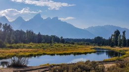 Snake River at the end of Schwabacher Road