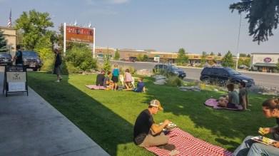Weekend picnic brunch