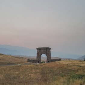 Yellowstone entrance gate